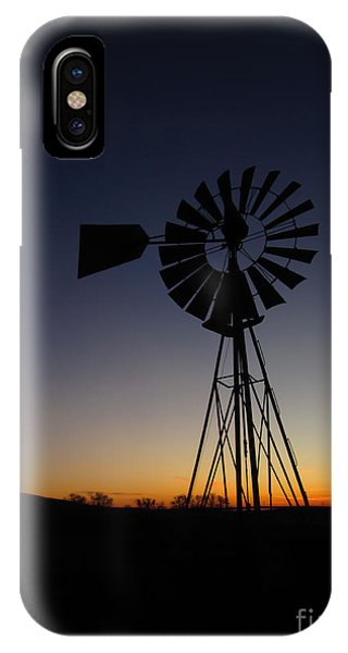 Silhouetted Aermotor Phone Case by Dan Julien