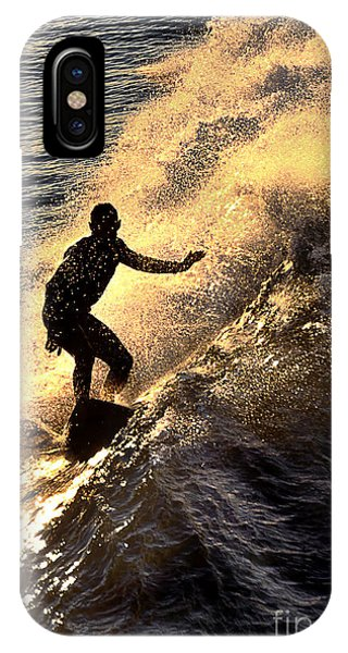 Silhouetted Surfer IPhone Case