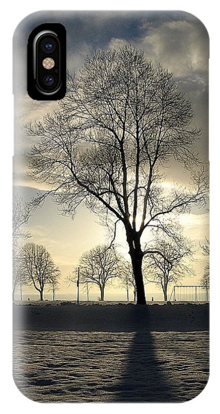 Silhouettes And A Long Winter Shadow  IPhone Case