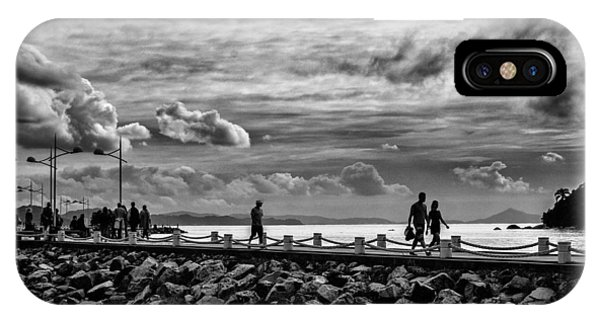 Silhouettes On The Jetty IPhone Case