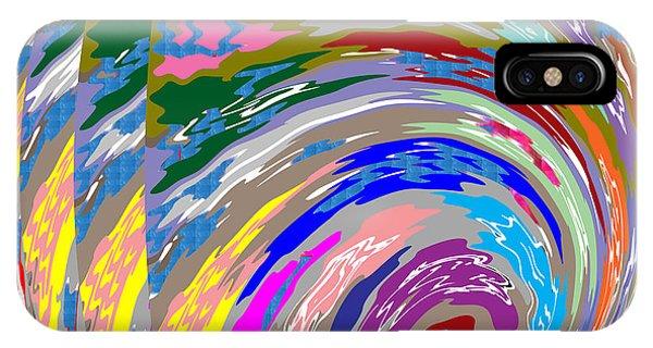 Colorful Fineart Silken Spiral Waves Pattern Decorative Art By Navinjoshi At Fineartamerica.com IPhone Case
