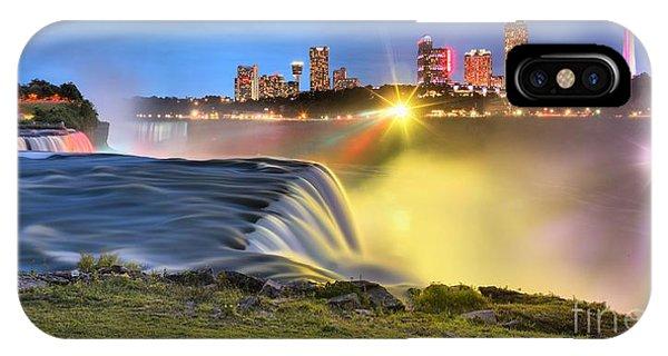 Silky Niagara Falls Panoramic Sunset IPhone Case