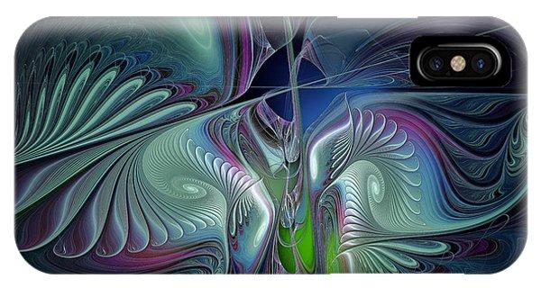 Fractal Landscape iPhone Case - Silky Nights-fractal Design by Karin Kuhlmann
