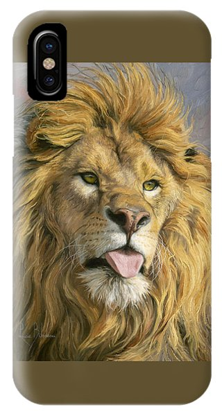 Lions iPhone Case - Silly Face by Lucie Bilodeau