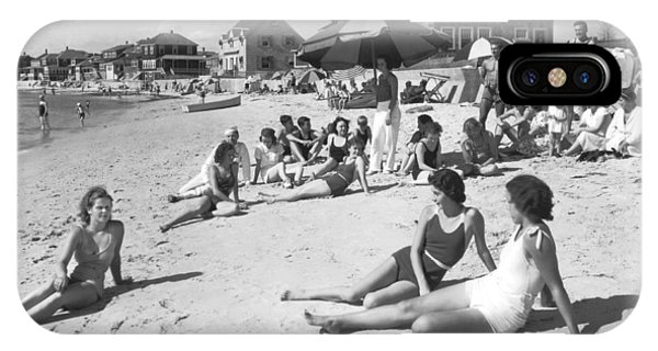 Sunbather iPhone Case - Silver Beach On Cape Cod by Underwood Archives