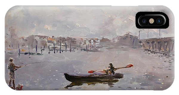 Fishing Boat iPhone Case - Silver Breeze Va by Ylli Haruni