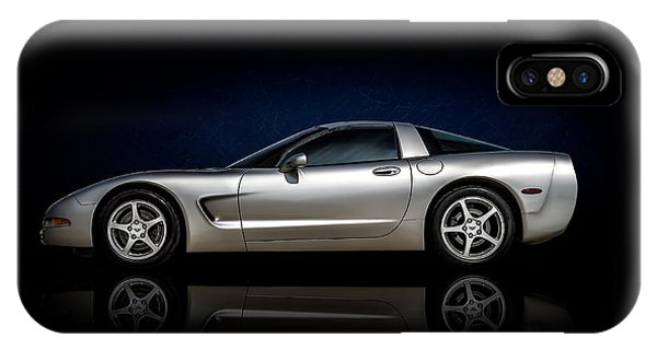 Chevrolet iPhone Case - Silver C5 by Douglas Pittman