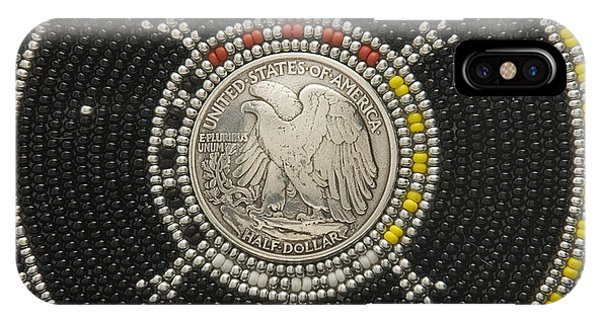 IPhone Case featuring the mixed media Silver Eagle by Douglas K Limon