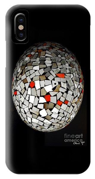 IPhone Case featuring the digital art Silver Egg by Eleni Mac Synodinos