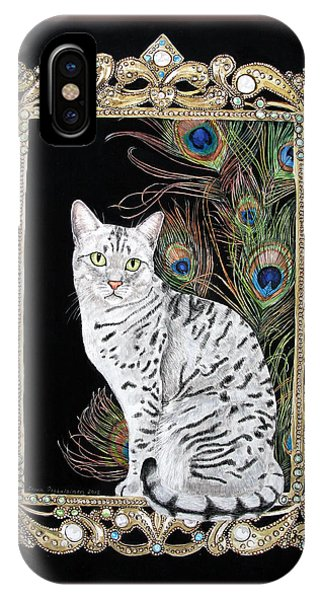 Silver Egyptian Mau IPhone Case