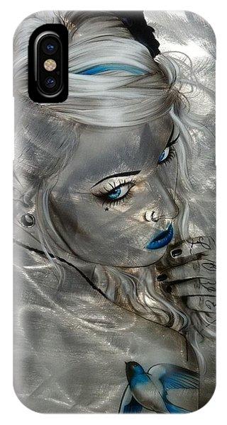 Swallow iPhone Case - Silver Flight by Christian Chapman Art