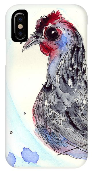 Silver Hen IPhone Case