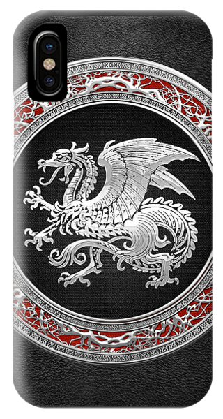 Silver Icelandic Dragon  IPhone Case