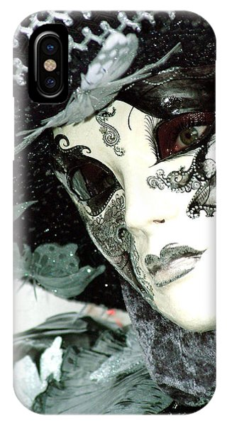 Silver Lacy Eyes IPhone Case