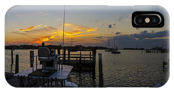 Silver Lake Sunset Panorama IPhone Case