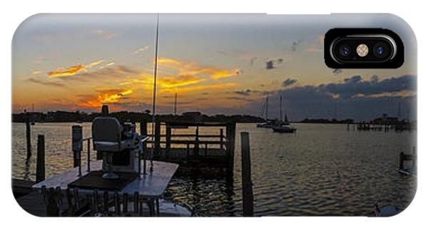Silver Lake Sunset Panorama IPhone Case