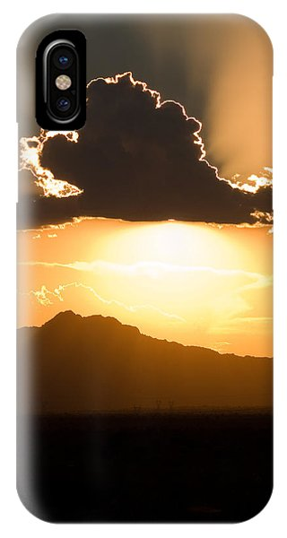 IPhone Case featuring the photograph Silver Lining by Brad Brizek