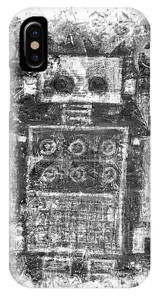 Silver Scene Robot Splat IPhone Case