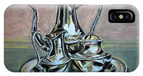 Silver Tea Set IPhone Case