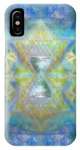 Silver Torquoise Chalicell Ring Flower Of Life Matrix IPhone Case