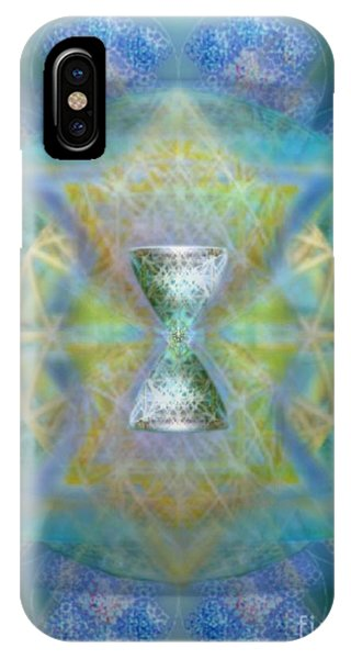Silver Torquoise Chalicell Ring Flower Of Life Matrix II IPhone Case