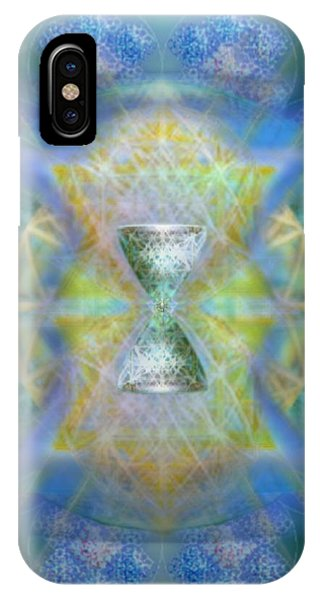Silver Torquoise Chalicell Ring Flower Of Life Matrix IIi  IPhone Case