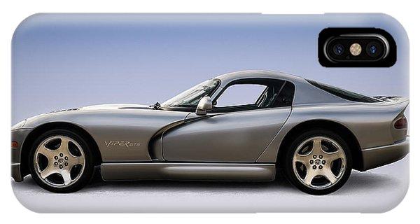 Viper iPhone Case - Silver Viper by Douglas Pittman