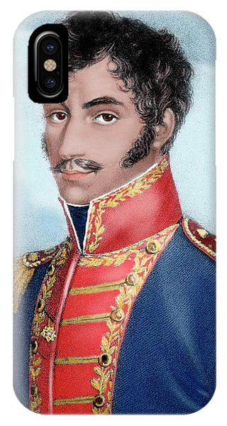 Colombia iPhone Case - Simon Bolivar (caracas, 1793-santa by Prisma Archivo