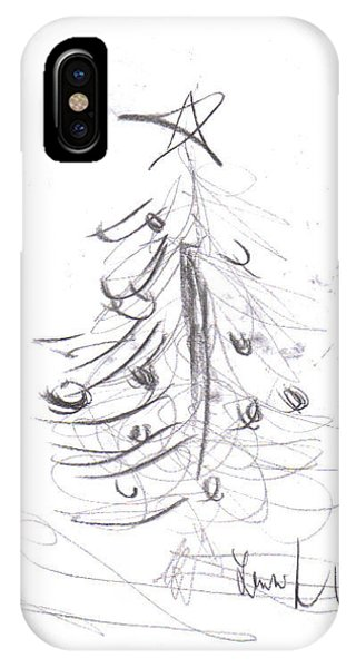 IPhone Case featuring the drawing Simple Love by Laurie Lundquist