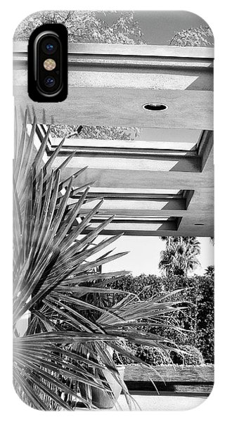 Sinatra Patio Bw Palm Springs IPhone Case