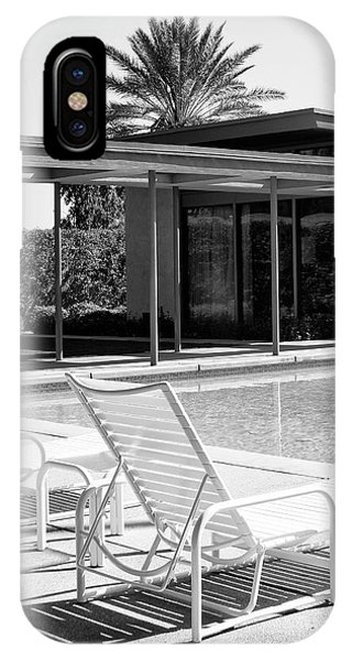 Home iPhone Case - Sinatra Pool Bw Palm Springs by William Dey