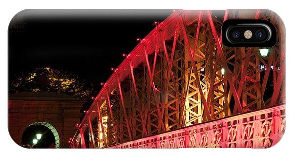 Singapore Anderson Bridge At Night IPhone Case