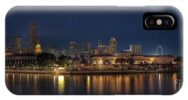 Singapore By Night IPhone Case