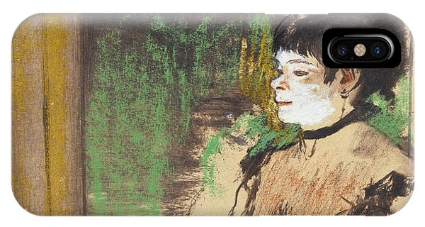 Impressionistic iPhone Case - Singer In A Cafe Concert by Edgar Degas