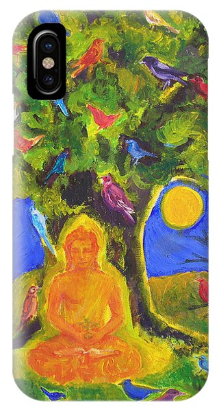 Buddha And The Birds IPhone Case