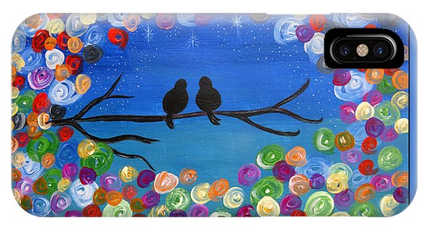 Singing To The Stars Tree Bird Art Painting Print IPhone Case