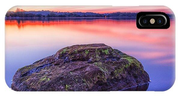 Loch Ard iPhone Case - Single Rock In The Loch by John Farnan