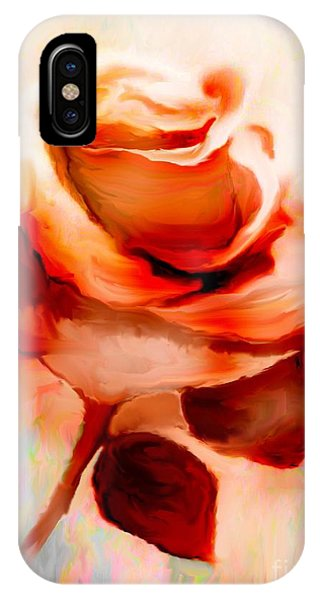 Single Rose Painting IPhone Case