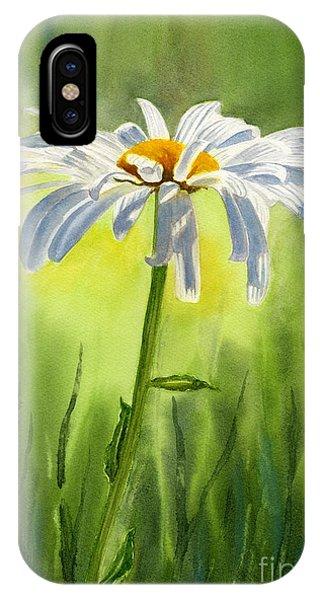 Single White Daisy  IPhone Case