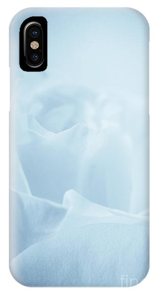 Single White Rose Blue Tint IPhone Case
