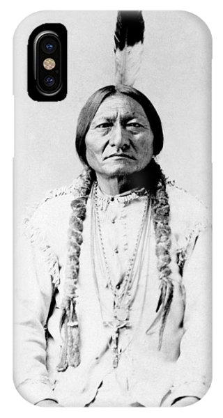 Bull iPhone Case - Sioux Chief Sitting Bull by War Is Hell Store