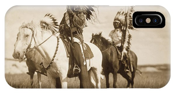 White Horse iPhone Case - Sioux Chiefs  by Unknown