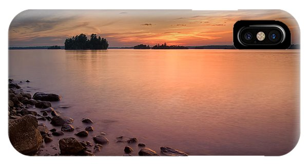 Sioux Narrows Sunset IPhone Case