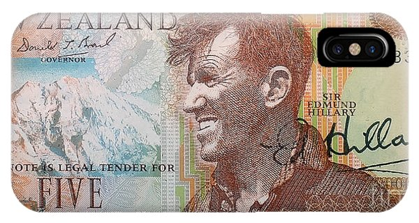Sir Edmund Hillary Signed Banknote IPhone Case