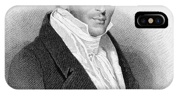 Stamford iPhone Case - Sir Thomas Stamford Raffles  Colonial by Mary Evans Picture Library