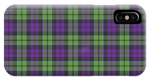 Sir Walter Scott Purple And Green IPhone Case