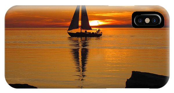 Sister Bay Sunset Sail 2 IPhone Case