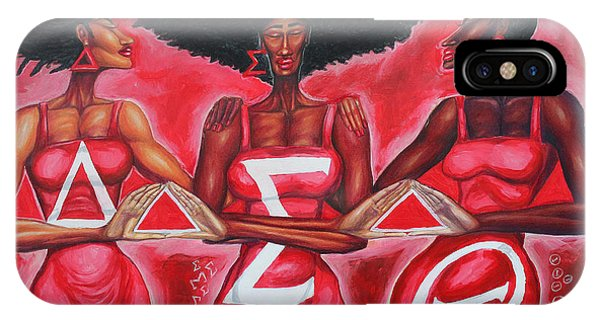 Sister iPhone Case - Sisterly Love Delta Sigma Theta by The Art of DionJa'Y
