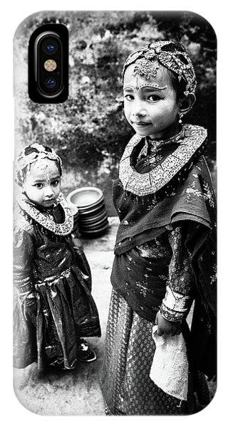 Sister iPhone Case - Sisters In Nepal by Toru Matsunaga