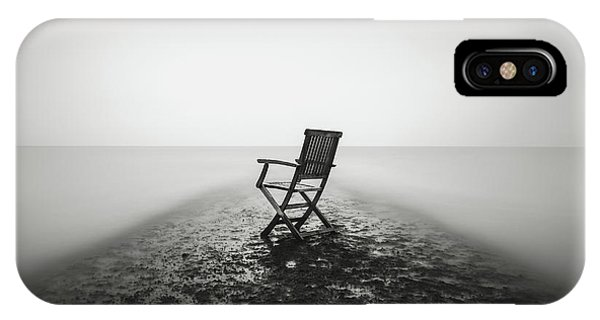 Leave iPhone Case - Sit Down And Relax by Christophe Staelens